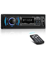 BOSS Audio 616UAB Multimedia Car Stereo – Single Din LCD, Bluetooth Audio/Calling, Built-in Microphone, MP3/USB, Aux-in, AM/FM Radio Receiver