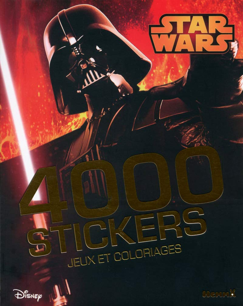 Disney Star Wars 4000 Stickers Jeux Et Coloriages French Edition