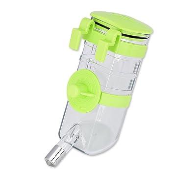 CHONGWFS Botella de Agua ZZY para Perros dispensador de Agua 375ml Botella de Agua Potable portátil para Perros Gato para Mascotas (Color : Verde): ...