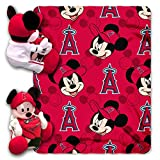 MLB Los Angeles Angels Pitch Crazy Co-Branded Disney's Mickey Hugger and Fleece Throw Set