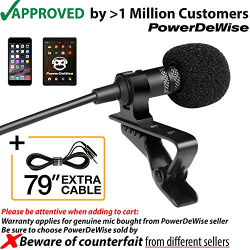 Microphone Wireless Kit Lapel (Professional Grade Lavalier Lapel Microphone  Omnidirectional Mic with Easy Clip On System  Perfect for Recording Youtube / Interview / Video Conference / Podcast / Voice Dictation / iPhone/ASMR)