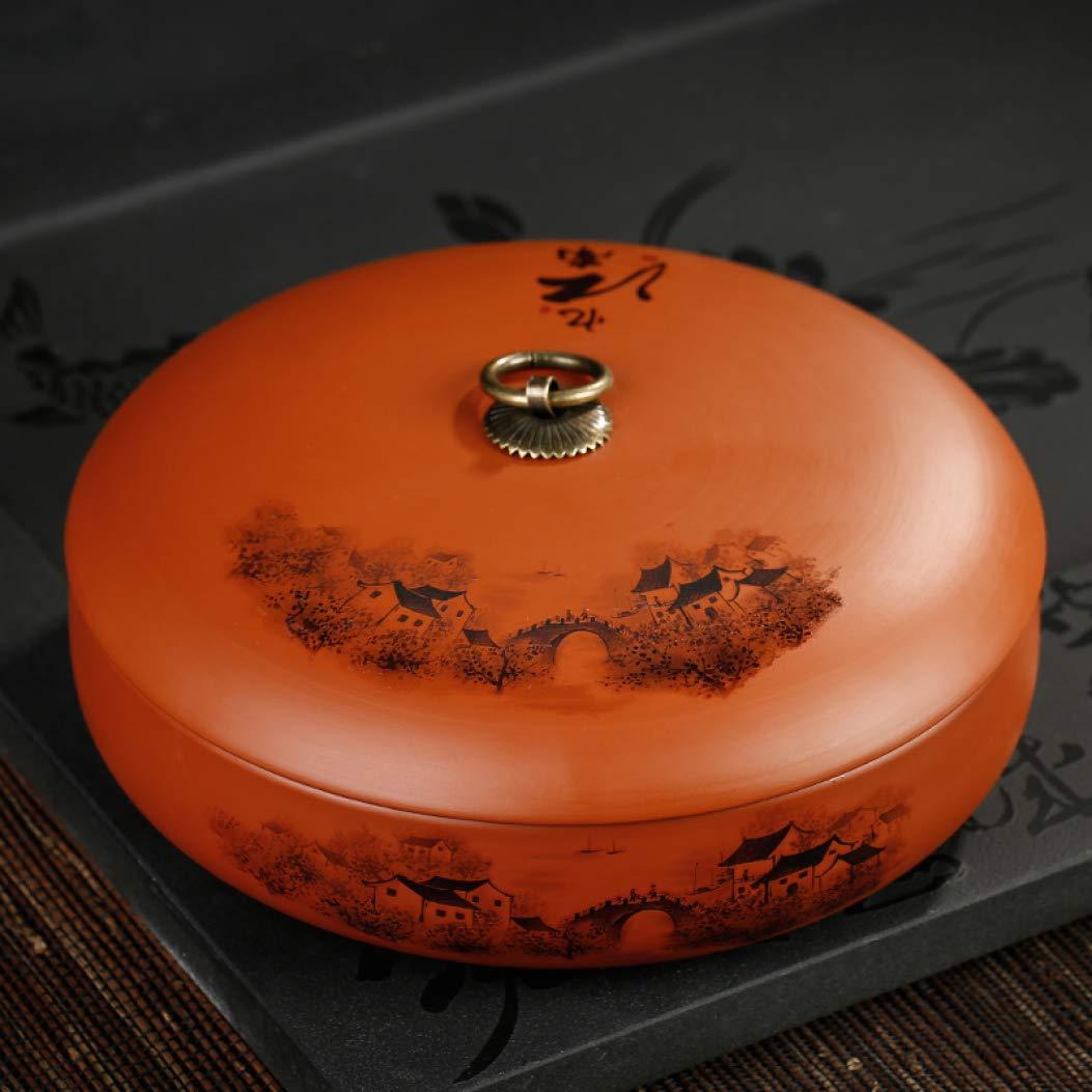 Purple Clay Tea Caddy Ceramic Puer Tea Cans Tea Cake Storage Jar Sealed Box Teaware Kitchen Accessories Gift