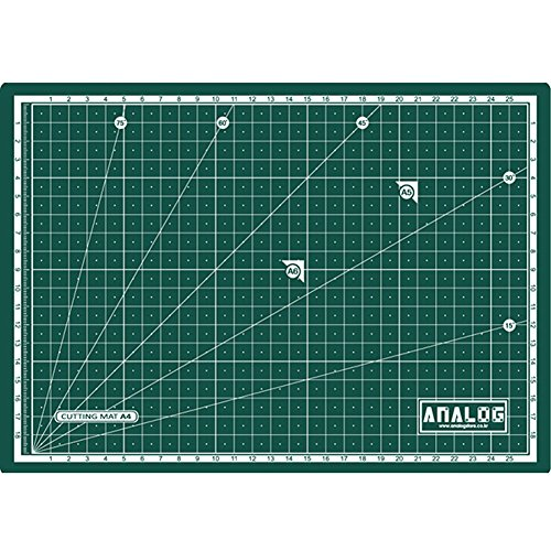 Analog Self Healing Durable PVC GREEN Cutting Mat Board Art Craft (A2) by Analog