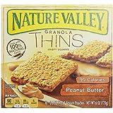 Nature Valley Granola Thins Crispy Squares - Peanut Butter - 0.6 oz - 10 ct