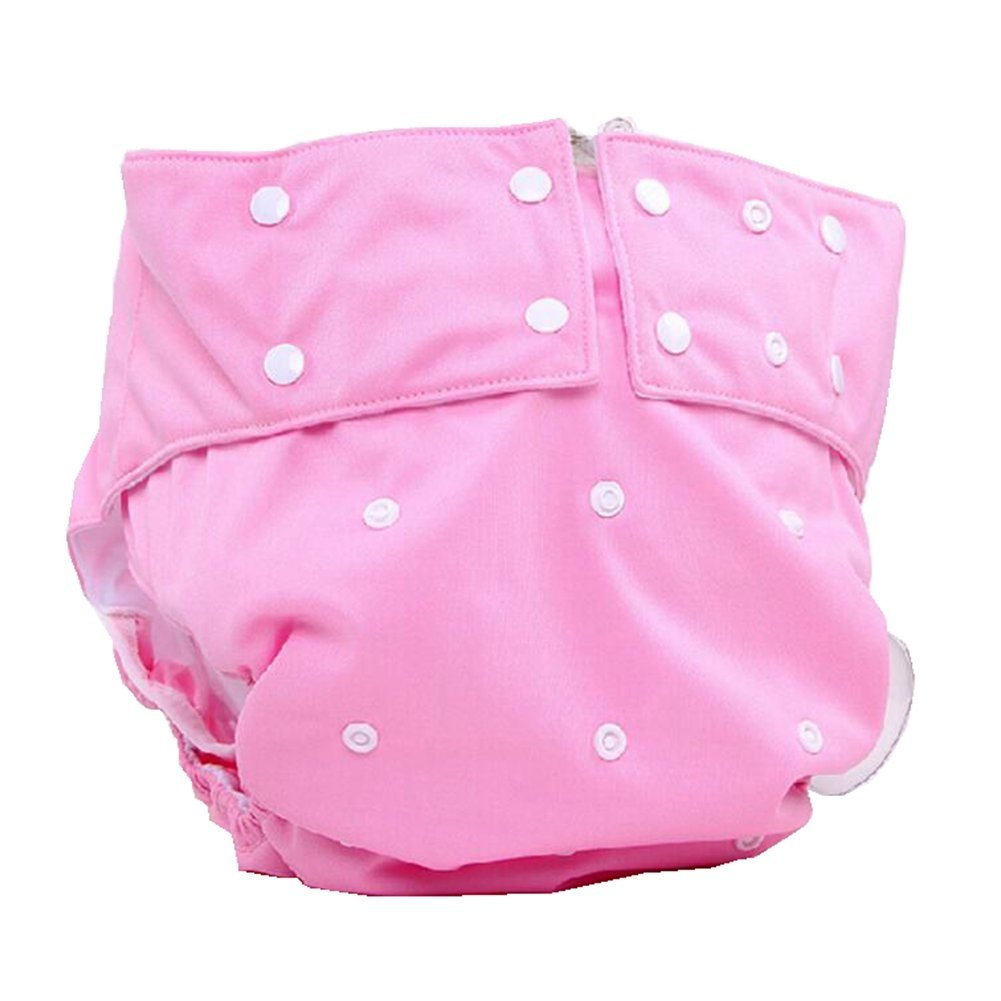 LukLoy - Women's Adults Cloth Diapers with 1pc Insert for Incontinence Care -Dual Opening Pocket Washable Adjustable Reusable Leakfree (Pink) Shenzhen M-Home Co. Ltd