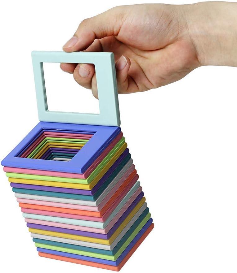 Delleu 10 Unids/Set Mini 3.5 Pulgadas Marco Lindo y Claro, Pantalla Deslizante de Fotos para Fujifilm Refrigerador Etiqueta para la decoración de la Sala de Estar