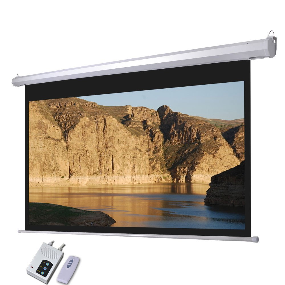 Screen Projector with Remote Control and Electric Screen (100'' 16:9)