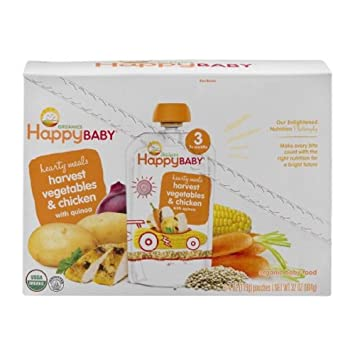 Happybaby Organics Baby Food Hearty Meals 3 Harvest Vegetables