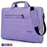 BRINCH(TM) Suit Fabric Multi-functional Neoprene Carrying Clipcase Shoulder Laptop/ Notebook Computer Bag Case for 14-14.1 Inch Macbook/Notebook,Taro Color
