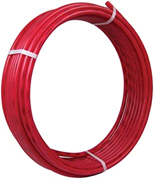 Sharkbite U880r100 Pex 1 Inch Red Flexible Tubing Potable Water Push To Connect Plumbing Fittings 100 Feet Coil Of Piping Ft Pipes Amazon Com