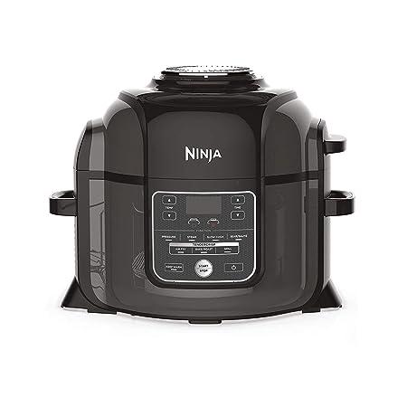 Ninja OP300EU Foodi Multi-Cooker Olla a Presión y Freidora de Aire, Gris y Negro