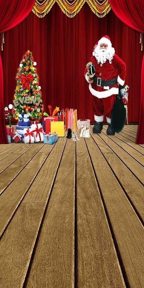 GladsBuy Tempting Christmas Gifts 10' x 20' Digital Printed Photography Backdrop Christmas Theme Background YHA-485