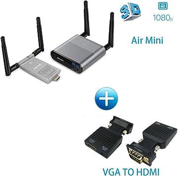 Transmisor HDMI inalámbrico DE 5,8 GHz, 200 m, Receptor HDMI, Kit ...