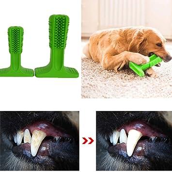 Blue-idea Cepillo de Dientes para Perros, Perro Cepillado Cepillo de Dientes Limpieza eficaz