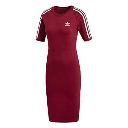 Adidas 3 Stripes Dress Vestido de Tenis, Mujer, Rojo (Buruni), 48