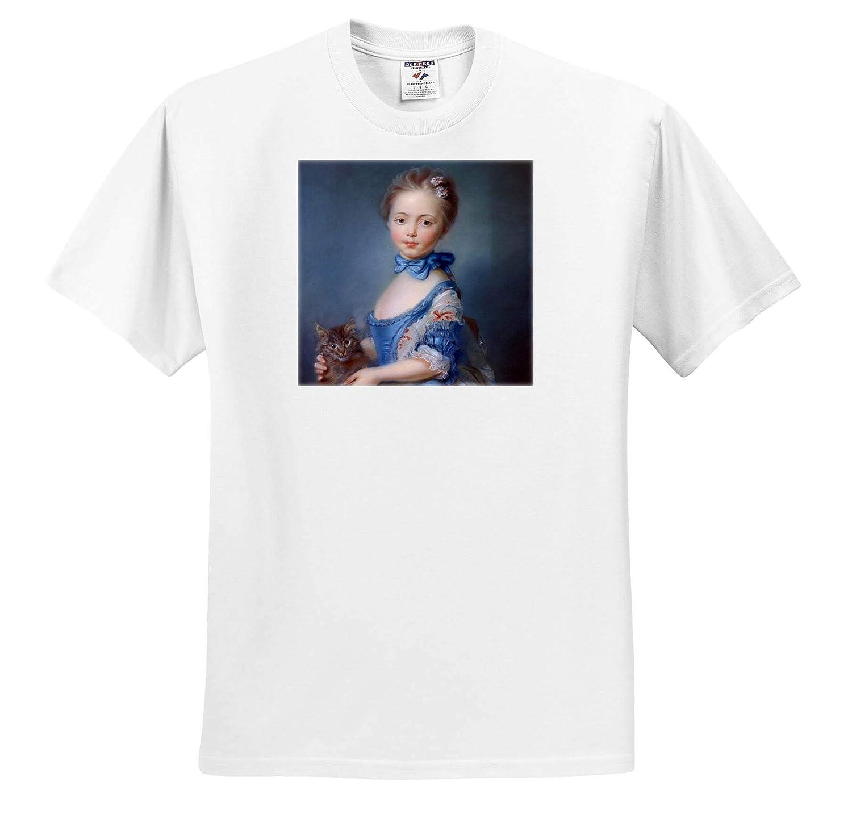 English Girl Picks Yellow Roses 3dRose VintageChest T-Shirts Girls Maud Humphrey