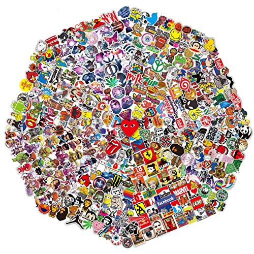 410 Pcs/Pack Random Sticker (60~1200 pcs), Fast Shipped by Amazon. Variety Vinyl Car Motorcycle Bicycle Luggage Decal Graffiti Patches Skateboard for Laptop Stickers for Adult