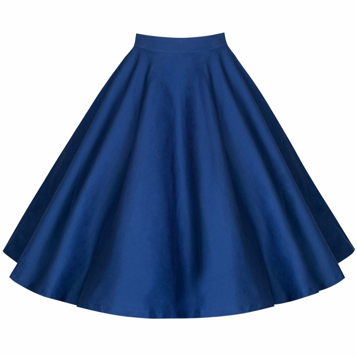 c863c76e74 Samtree Women's Vintage 50s Style Polka Dots Pleated Full Circle Swing  A-Line Skirt(Asia XXL, Blue) at Amazon Women's Clothing store: