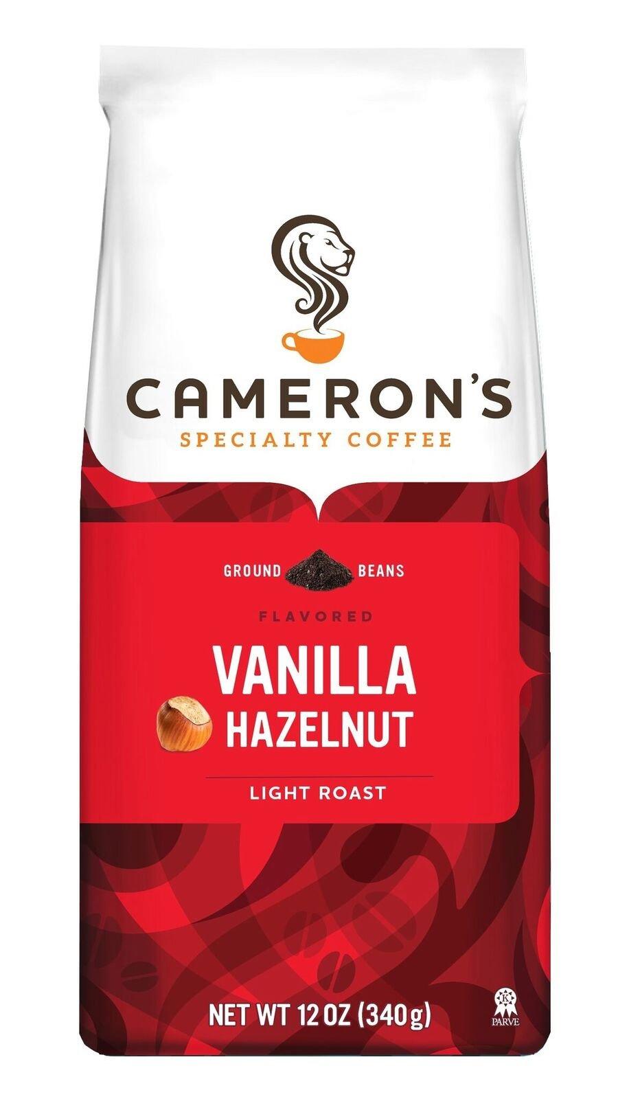 Cameron's Coffee Vanilla Hazelnut, 12 Ounce Bag