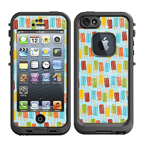 Skins Kit for Lifeproof iPhone 5 Case (skins/decals only) - Popsicles on pastel, icees, summer