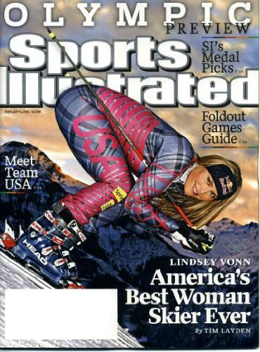 (Sports Illustrated February 8 2010 Lindsey Vonn/Vancouver Olympics Skier on Cover, Olympic Preview, Foldout Games Guide, Super Bowl XLIV New Orleans Saints vs Indianapolis Colts)