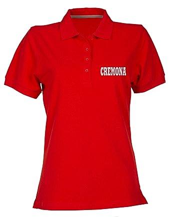 T-Shirtshock Polo para Mujer Rojo WC0905 CREMONA Italia: Amazon.es ...