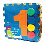 Invero Large Outdoor Foam Pad Garden Hopscotch Play Set Mat Game for Children Kids