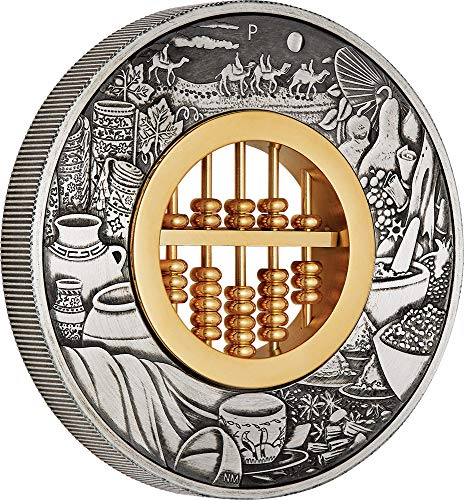 2019 TV Modern Commemorative PowerCoin ABACUS 2 Oz Silver Coin 2$ Tuvalu 2019 2 Oz Antique Finish