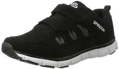 Bruetting SPIRIDON FIT, Unisex-Kinder Sneakers, Schwarz (SCHWARZ/WEISS), 35 EU (3 Kinder UK)