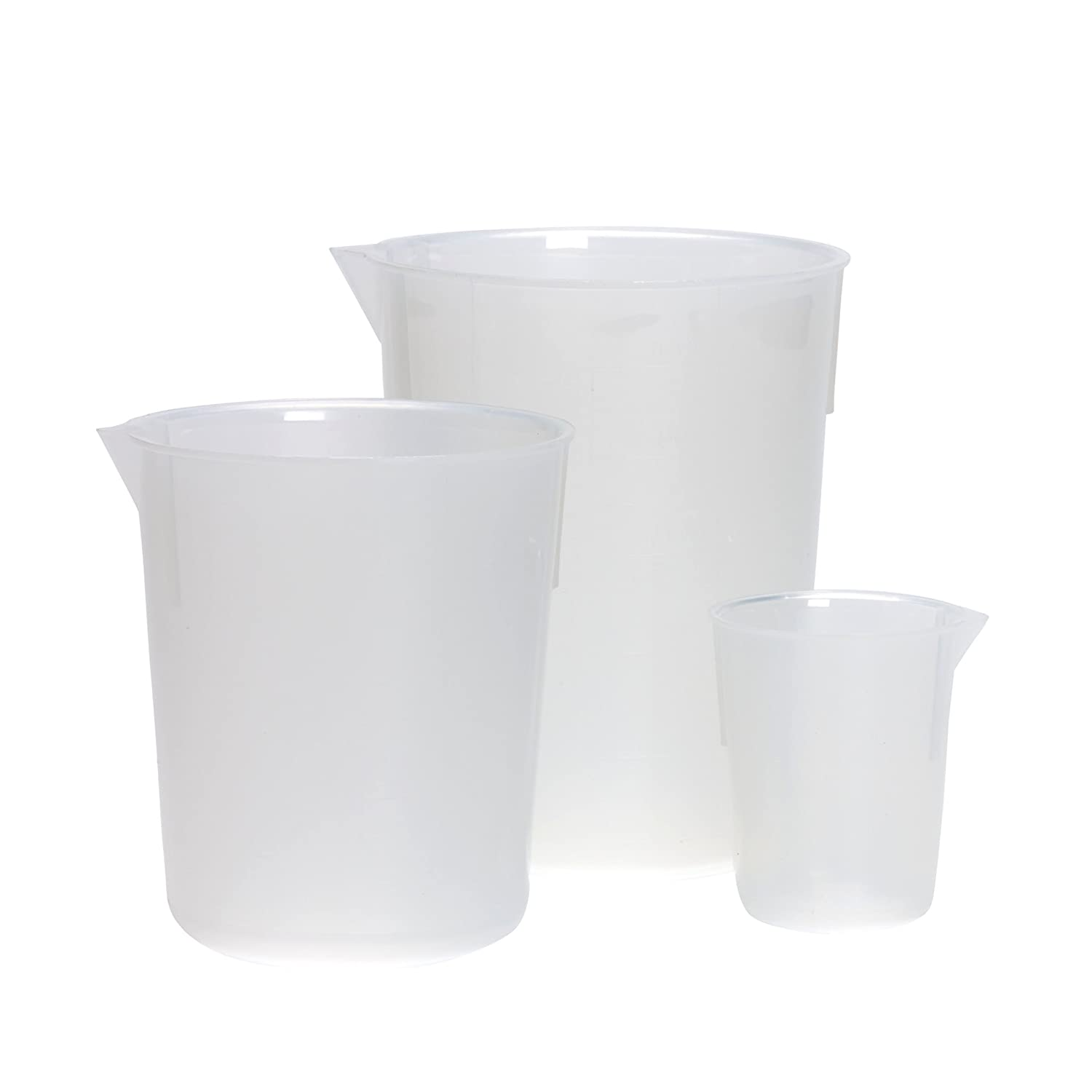 AZLON BPM0400P Plastic, Tapered Beakers, Moulded Grads A-Z, PP, 400 ml (Pack of 10) free shipping
