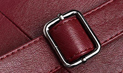 AgooLar Pu Vineux sacs Mode Sacs Des GMBBB180895 Cuir Rouge bandoulière à Décontractée Femme Zippers rIrq6f