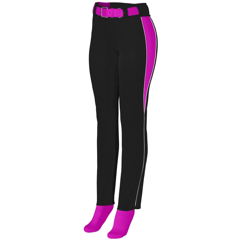 Augusta Sportswearレディースソフトボール外野パンツ B00P53XC7U Medium|Black/Power Pink/White Black/Power Pink/White Medium