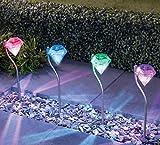 LSHCX Solar Powered Color Changing Led Landscape Lighting Garden Outdoor ...