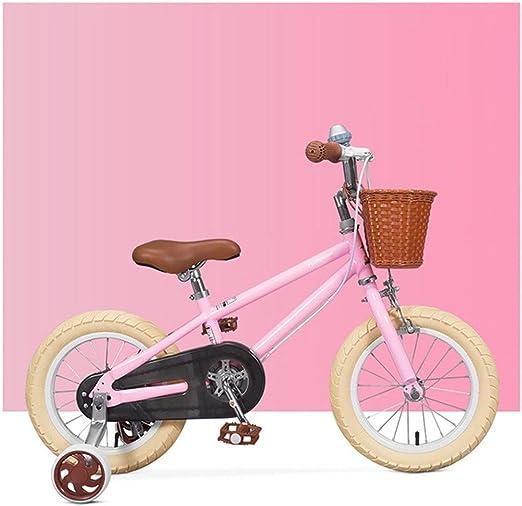 JLASD Bicicleta Bicicletas Niños, For Los Muchachos De Las Niñas 3-8 Años, 14 16 For Niños Formación De Bicicletas, con Las Ruedas De Entrenamiento Y Estabilizadores, El 95% Montado: Amazon.es: Deportes y aire libre