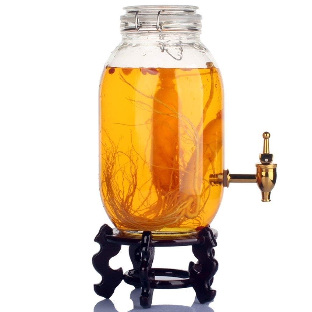 LMDB Beverage Dispensers with Metal Stand, Fun Sun Tea Party Entertainment Glassware Glass Water Pitcher for Iced Cold Punch Drinks by LMDB (Image #6)