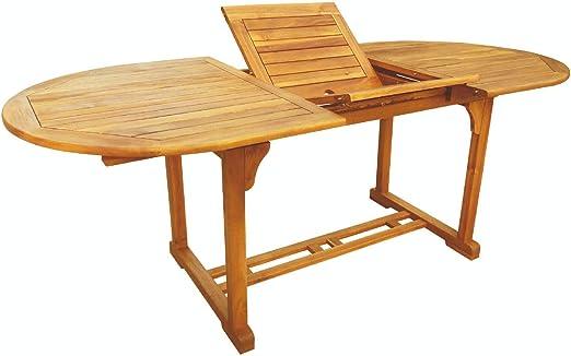 soriani Table de Jardin Ovale Extensible 240 x 100 cm en ...