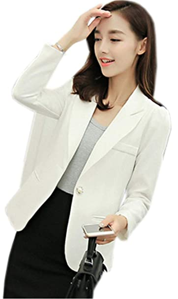 Mujer Blazer Manga Larga Slim Fit Negocios Party Camisa Mode De Marca  Elegantes Corto Abrigos Otoño Hipster De Solapa Casuales Oficina Chaqueta  De Traje ... c7600c332e01