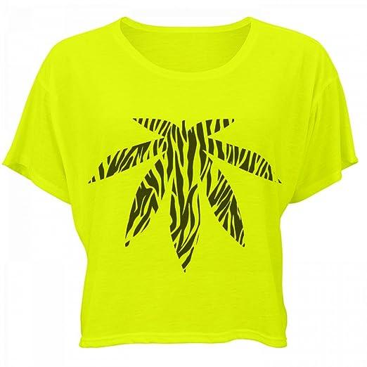 Zebra Print Weed: Bella Women's Flowy Boxy Tee