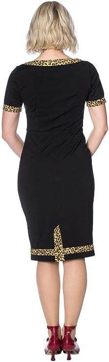 Banned Apparel Rock N Roll Leopard Wiggle Dress