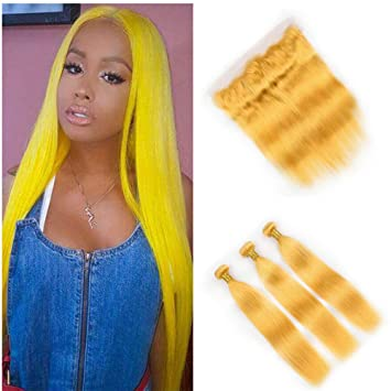 Vaovos Hair New Arrive Yellow Bundles Human