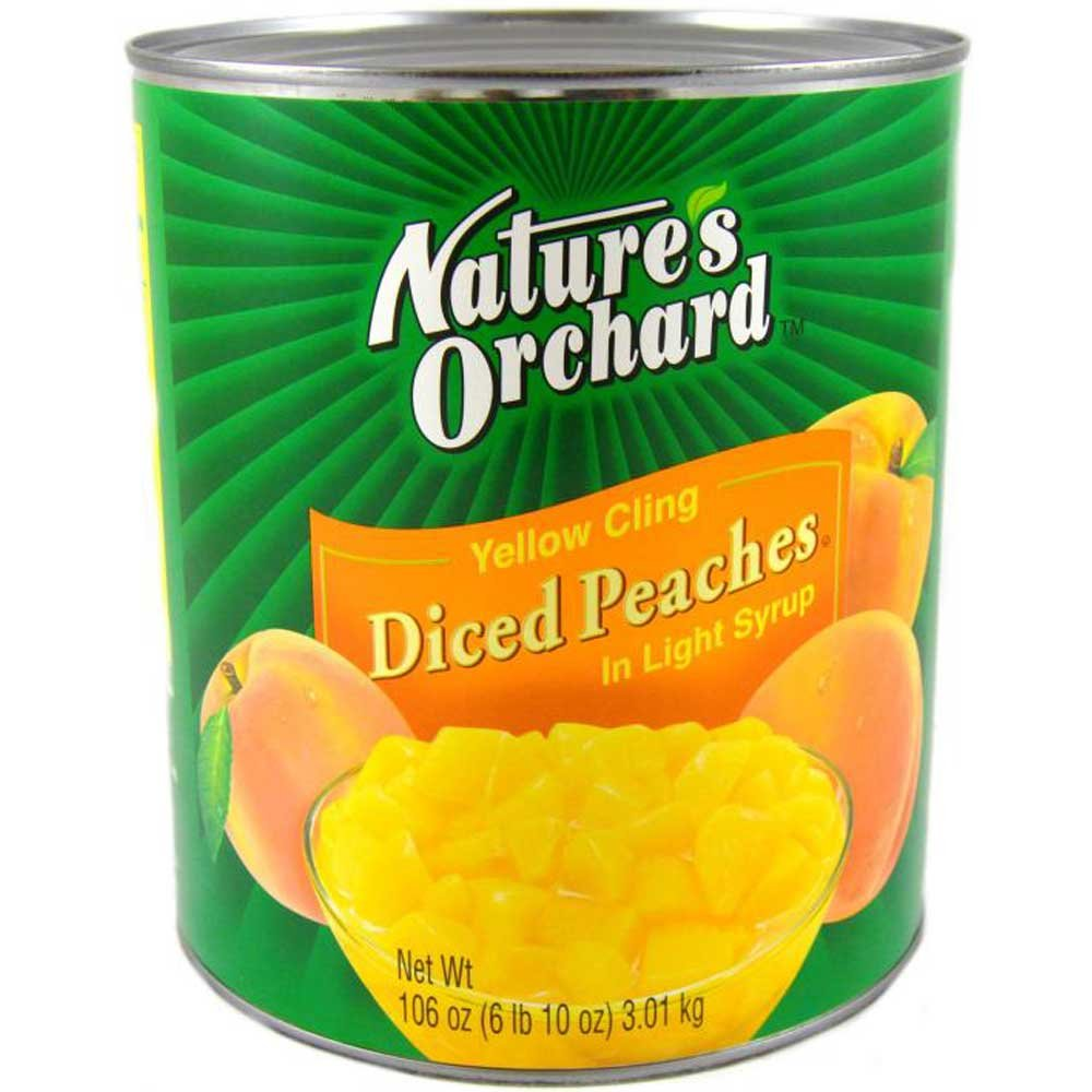Natures Orchard Choice Diced Peaches in Pear Juice Concentrate, 105 Ounce -- 6 per case.