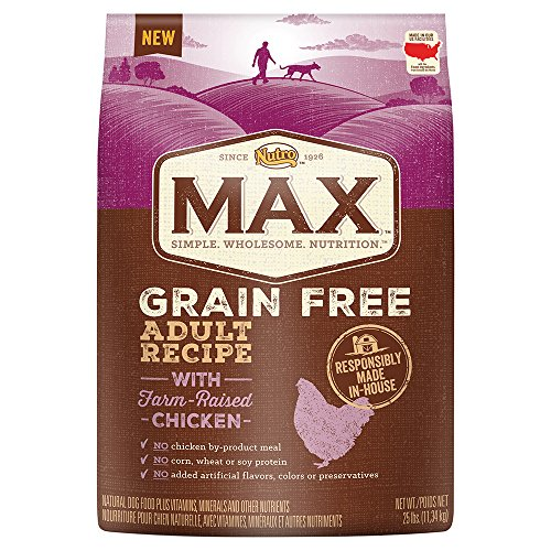 Nutro Max Grain Free Adult Recipe With Farm Raised Chicken Dry Dog Food, (1) 25-Lb. Bag.; Rich In Nutrients And Full Of Flavor