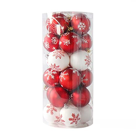 Christbaumkugeln Rot Glänzend.Christbaumkugeln Rot Gold Glänzend Glitzernd Christbaumschmuck 6 Cm Baumschmuck Weihnachten Deko
