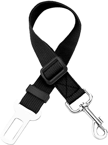 Black Dog Seat Belt Adjustable Pet Harness Vehicle Seatbelt Pet Safety Leash Leads