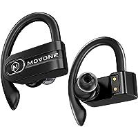 MOVONE True Wireless Earbuds Sport Bluetooth Headphones with Wireless Charging Case Premium Deep Bass Earphones Over Ear…