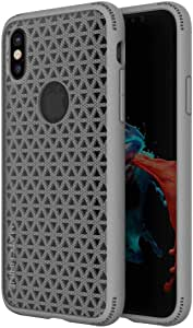 Apple Iphone X Matchnine Skel Back Case Cover - Middle Grey