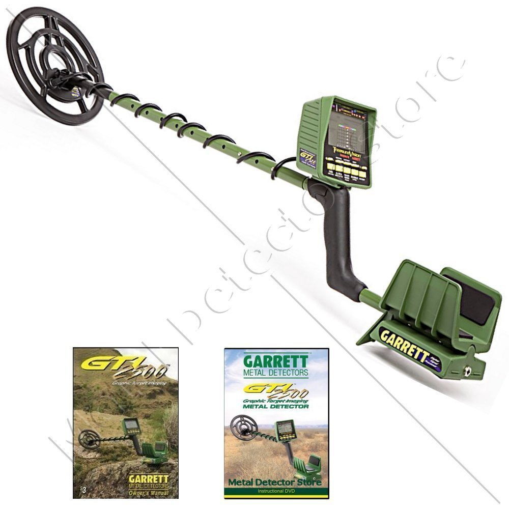 Garrett GTI 2500 Metal Detector W 9.5 Imaging Proformance Submersible Searchcoil