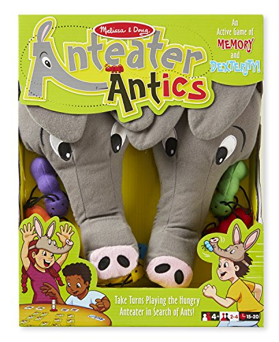 Melissa & Doug Anteater Antics Action Game With 2 Plush Hats ()