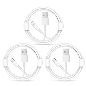 iPhone Charger Lightning Cable【Apple MFi Certified 】USB Cable 3-Pack Charging Cables Compatible with iPhone 12/12 Pro/Max/11/11Pro/XS/Max/XR/X/8/8 Plus/7/7 Plus/6S/6 Plus/5/5es and iPad