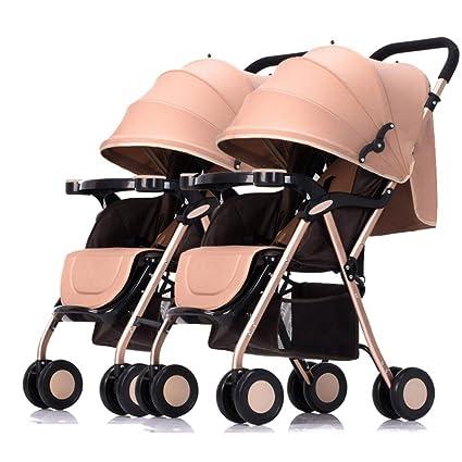 ZHXUANXUAN El Carrito Para Bebés Gemelos Puede Estar Sentado ...